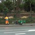 剪定も自転車